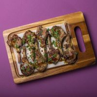 Lamb Ribs Coated With Garlic And Herbs